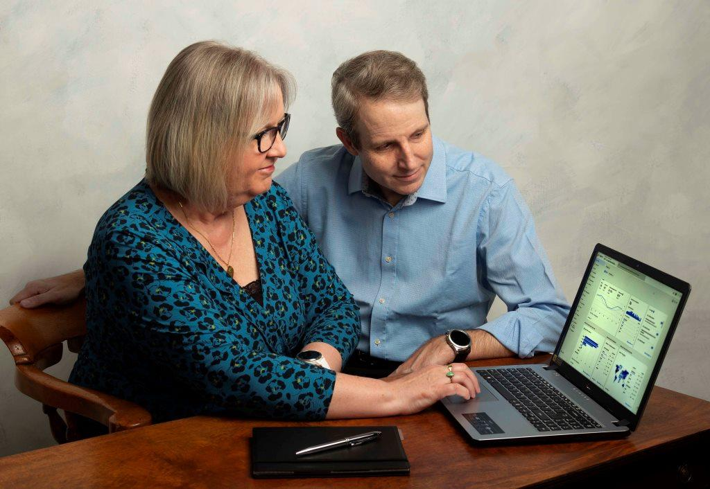 CBL Team analysing SEO results on a laptop